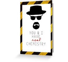 BREAKING BAD HEISENBERG Real Chemistry Greeting Card