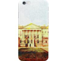 A digital painting of  The Palace of Nations, Brussels, Belgium iPhone Case/Skin