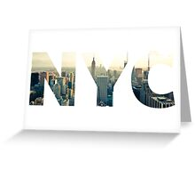 NYC for NEW YORK CITY - Typo Greeting Card