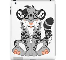 Cute Chibi Snow Leopard iPad Case/Skin