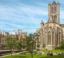 Gent, Sint Niklaas cathedraal by Christel  Roelandt