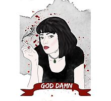 PULP FICTION's Mia Wallace  Photographic Print