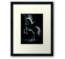 Lightning Rod: Minimal Abstract Horse Framed Print