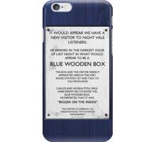 The Gallifreyan Visitor iPhone Case/Skin