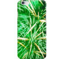Bright green fireworks iPhone Case/Skin