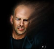 Bruce Willis by andrew phillips