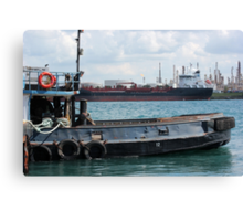 Tug and Freighter Canvas Print