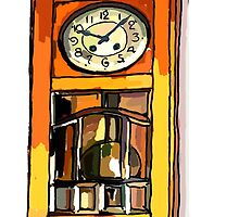 Still life ... Father's Clock by OlaG