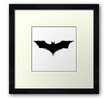 Batman Logo paint Splatter Design Framed Print
