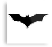 Batman Logo paint Splatter Design Metal Print