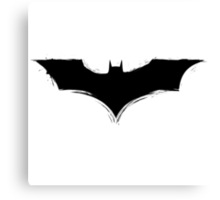 Batman Logo paint Splatter Design Canvas Print