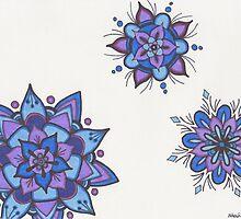 Blue Flower Mandalas by zehava