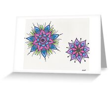Starburst Mandalas Greeting Card
