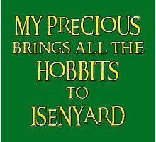 My Precious Brings All the Hobbits to Isenyard Photographic Print