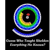 Guess Who Taught Sheldon Everything He Knows?  Photographic Print