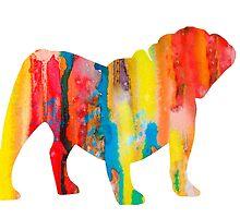 English Bulldog 2 by Watercolorsart