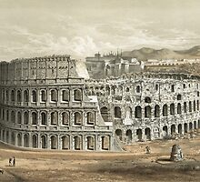 Vintage Painting of the Roman Coliseum by Vintage Works