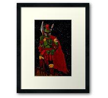 Spartan Fett Framed Print