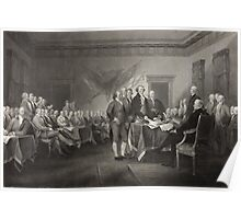 Signing the Declaration of Independence Poster