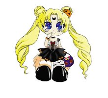 Halloween Usagi Chibi by BabyCoquette