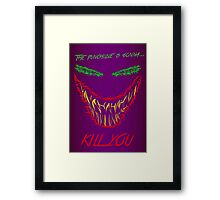 Mad man with a smile for chaos Framed Print