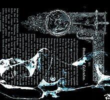 ink on very old paper negativ scan by Krzyzanowski Art