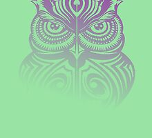 Hooty Hoo 506 - Version 1 (Purple & Mint Blend) by Scarecrow506