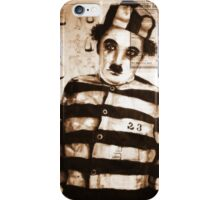old book drawing famous charles chaplin iPhone Case/Skin