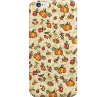 Autumn harvest fruit,pumpkin .Doodle  pattern iPhone Case/Skin