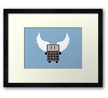Angel Calculator Framed Print