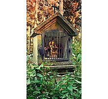 Ancient forest worker monument   architectural photography Photographic Print