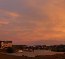 The Marina Hindmarsh Island at Dusk by Stuart Daddow Photography