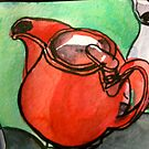 the red teapot by Evelyn Bach