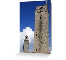 Towering Tuscany Greeting Card