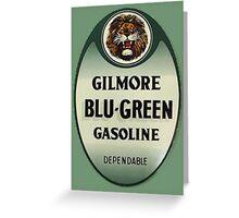Gilmore Blu-Green Gasoline Greeting Card