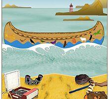 Canoe to Moonrise Kingdom by Steven House