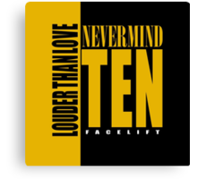 Nevermind Ten Facelift Louder than the Sound Grunge albums Canvas Print