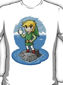 Legend of Zelda Wind Waker Bottle of Milk T-Shirt T-Shirt