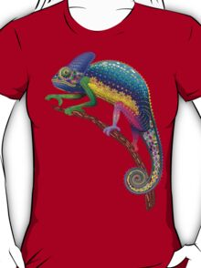 Chameleon Fantasy Rainbow Colors T-Shirt
