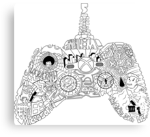 Controller Collage Canvas Print
