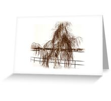 Willow in Winter Greeting Card