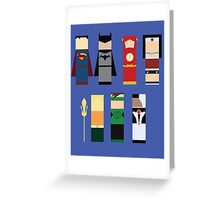 The Justice League  Greeting Card
