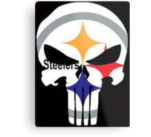 Pittsburgh Steelers Punisher Logo Metal Print