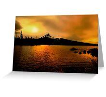 Amber Glow At Big Lake Greeting Card