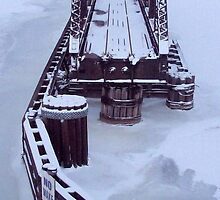 Train Bridge to Snow-Where by Francis LaLonde