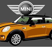 2014 Mini Cooper orange by car2oonz