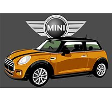2014 Mini Cooper orange Photographic Print