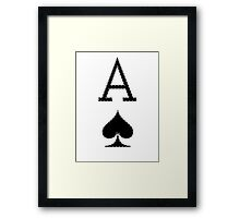 Letter A - Ace Framed Print