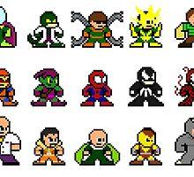 8-bit Spider-Man & Foes by groundhog7s