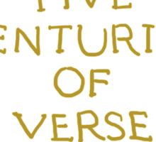Five Centuries of Verse (Ochre) Sticker